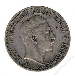 Preussen 1893 A J.104 5 Mark Wilhelm II. (1888-1918) ss