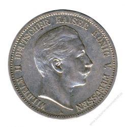 Preussen 1907 A J.104 5 Mark Wilhelm II. (1888-1918) vz/vz-st