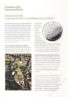 BRD 2002 Beschreibung für Numisblatt 4/2002 und 5/2002
