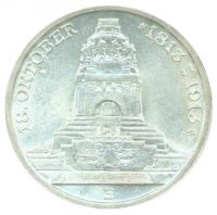 Sachsen 1913 E J.140 3 Mark 100 Jahre Völkerschlacht vz