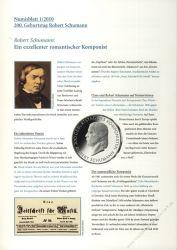 BRD 2010 Beschreibung für Numisblatt 1/2010 und 2/2010