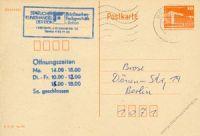 DDR 1986 Mi-Nr. P086II o Bauwerke klein 10Pf