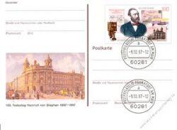 BRD 1997 Mi-Nr. PSo049 o 100.Todestag Heinrich von Stephan