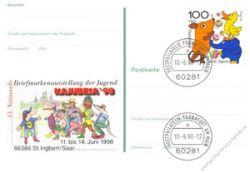 BRD 1998 Mi-Nr. PSo053 o Briefmarkenausstellung der Jugend