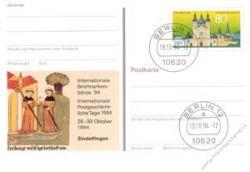 BRD 1994 Mi-Nr. PSo036 o Int. Briefmarkenbörse Sindelfingen