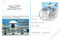 BRD 1989 Mi-Nr. PSo017 o NAPOSTA in Frankfurt/Main