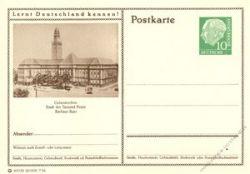BRD 1955 Mi-Nr. P024 220 * Gelsenkirchen - Rathaus Buer