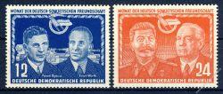 DDR 1951 Mi-Nr. 296-297 ** Deutsch-sowjetische Freundschaft
