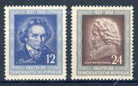 DDR 1952 Mi-Nr. 300-301 ** 125. Todestag von Ludwig van Beethoven