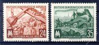 DDR 1953 Mi-Nr. 380-381 ** Leipziger Herbstmesse