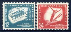 DDR 1951 Mi-Nr. 280-281 ** Wintersportmeisterschaften