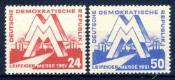 DDR 1951 Mi-Nr. 282-283 ** Leipziger Frühjahrsmesse