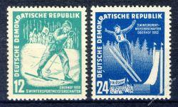 DDR 1952 Mi-Nr. 298-299 ** Wintersportmeisterschaften