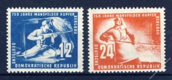 DDR 1950 Mi-Nr. 273-274 ** Mansfelder Kupferschieferbergbau