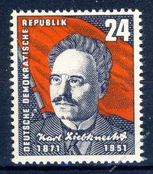 DDR 1951 Mi-Nr. 294 ** 80. Geburtstag von Karl Liebknecht