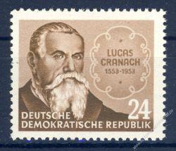 DDR 1953 Mi-Nr. 384 ** 400. Todestag von Lucas Cranach d. Ä.