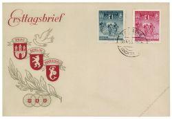 DDR 1955 FDC Mi-Nr. 470-471 ESt. Internationale Radfernfahrt