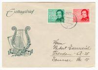 DDR 1956 FDC Mi-Nr. 528-529 ESt. 100. Todestag von Robert Schumann