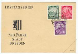 DDR 1956 FDC Mi-Nr. 524-526 SSt. 750 Jahre Dresden