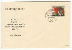 DDR 1956 FDC Mi-Nr. 520A ESt. 70. Geburtstag von Ernst Thälmann
