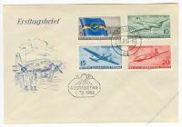 DDR 1956 FDC Mi-Nr. 512-515 ESt. Ziviler Luftfahrt