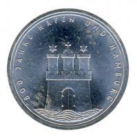 BRD 1989 J.448 10 DM 800 Jahre Hamburger Hafen vz-st