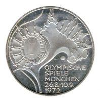 BRD 1972 J.404 10 DM Olympische Spiele - Prägestätte: G vz-st