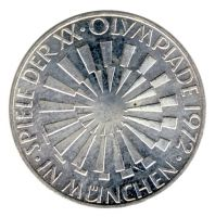 BRD 1972 J.401b 10 DM Olympische Spiele - Prägestätte: G vz-st