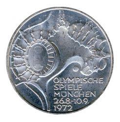 BRD 1972 J.404 10 DM Olympische Spiele - Prägestätte: D vz-st