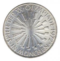 BRD 1972 J.401b 10 DM Olympische Spiele - Prägestätte: D vz-st