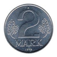 DDR 1978 J.1516 2 Mark Kursmünze st