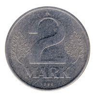 DDR 1982 J.1516 2 Mark Kursmünze vz