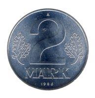 DDR 1986 J.1516 2 Mark Kursmünze st