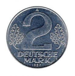 DDR 1957 J.1515 2 Mark Kursmünze vz-st