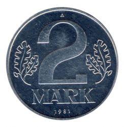 DDR 1981 J.1516 2 Mark Kursmünze st (Export)