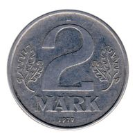 DDR 1977 J.1516 2 Mark Kursmünze ss