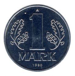 DDR 1980 J.1514 1 Mark Kursmünze st (Export)