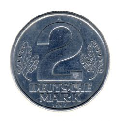 DDR 1957 J.1515 2 Mark Kursmünze ss