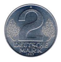 DDR 1957 J.1515 2 Mark Kursmünze st