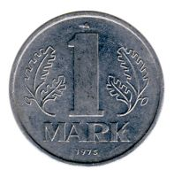 DDR 1975 J.1514 1 Mark Kursmünze vz