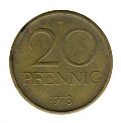 DDR 1973 J.1511b 20 Pf Kursmünze vz