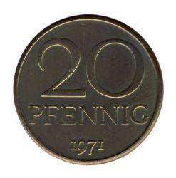 DDR 1971 J.1511a 20 Pf Kursmünze st