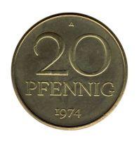 DDR 1974 J.1511b 20 Pf Kursmünze vz-st
