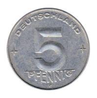 DDR 1953 J.1506 5 Pf Kursmünze Prägestätte: E ss