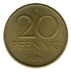 DDR 1974 J.1511b 20 Pf Kursmünze st