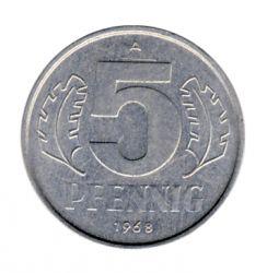 DDR 1968 J.1509 5 Pf Kursmünze st