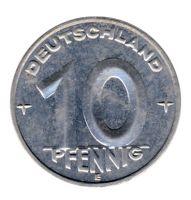 DDR 1952 J.1507 10 Pf Kursmünze Prägestätte: E vz