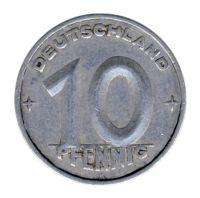 DDR 1950 J.1503 10 Pf Kursmünze Prägestätte: A ss