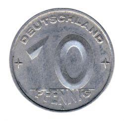 DDR 1953 J.1507 10 Pf Kursmünze Prägestätte: A ss
