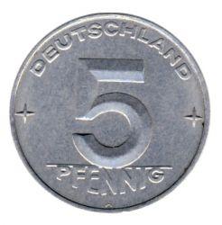 DDR 1953 J.1506 5 Pf Kursmünze Prägestätte: A vz-st